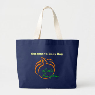 Little Pumpkin Line Art Large Tote Bag