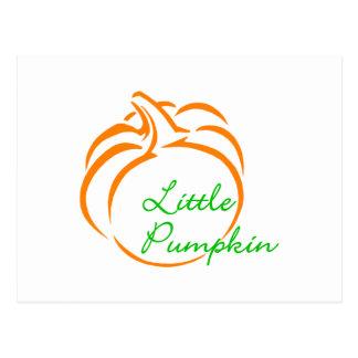 Little Pumpkin Line Art Postcard