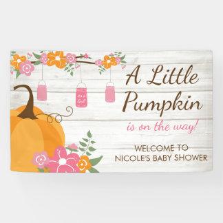 Little Pumpkin Mason Jars Fall Girl Baby Shower Banner