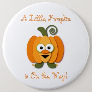Little Pumpkin Pregnancy Baby Shower Button