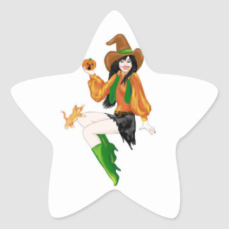 Little Pumpkin Star Sticker