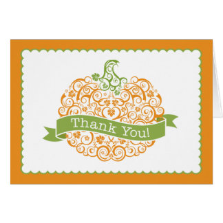 Little Pumpkin Thank You Note Stationery Note Card
