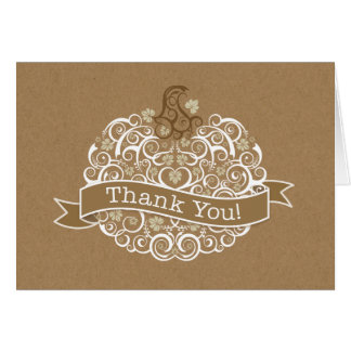 Little Pumpkin Thank You Note II Stationery Note Card