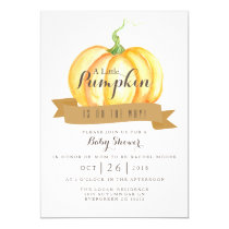 Little Pumpkin | Watercolor | Baby Shower Invite