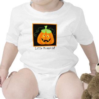 """Little Pumpkin"" Whimsy Halloween Pumpkin Custom Romper"