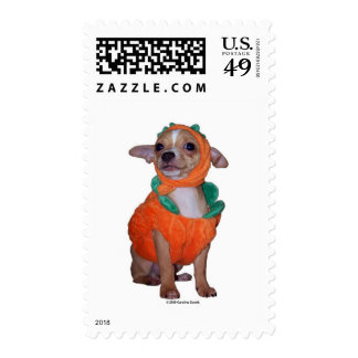 Little Pumpking Chihuahua Stamp