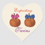 Little Pumpkins Expecting Twins Stickers