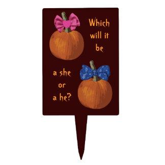 Little Pumpkins Gender Reveal Cake Topper