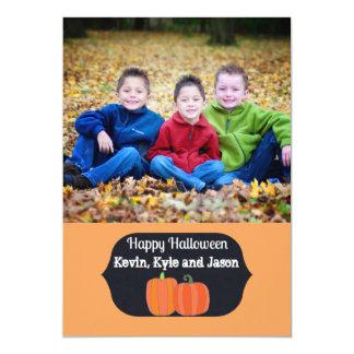 Little Pumpkins Happy Halloween photo card