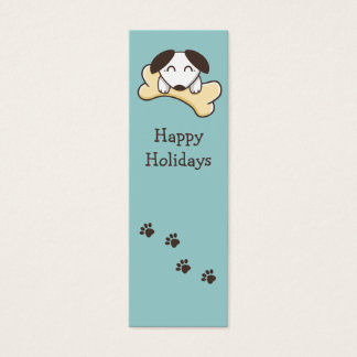 Little puppy bookmark mini business card