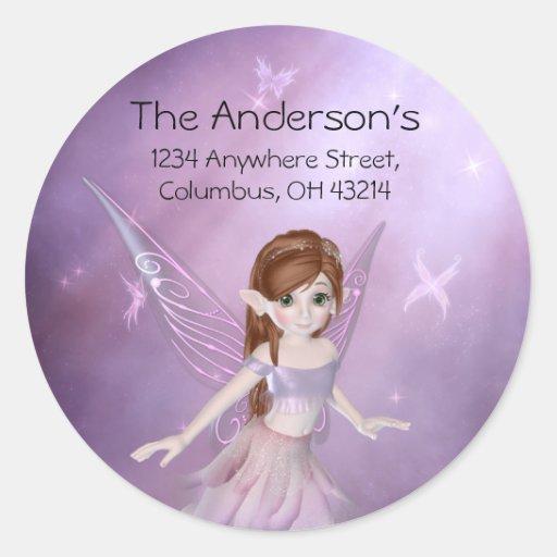 Little Purple Fairy Address Labels/Stickers