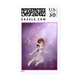 Little Purple Fairy Fantasy Stamps