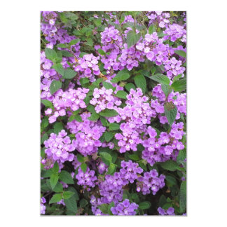 Little Purple Flowers 5x7 Paper Invitation Card
