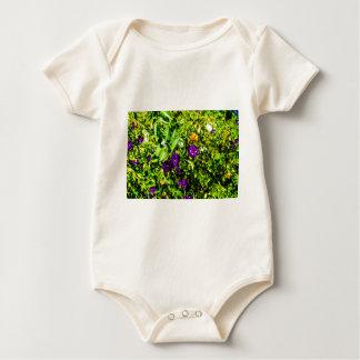 Little Purple Flowers Baby Bodysuit