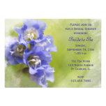 Little Purple Flowers Bridal Shower Invitation