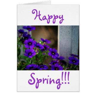 Little Purple Flowers.... Card