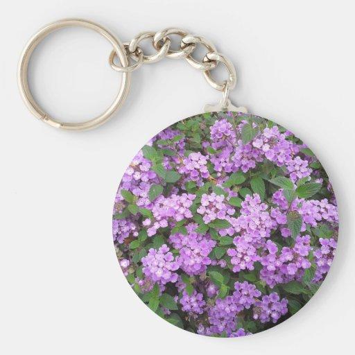 Little Purple Flowers Key Chain