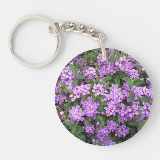 Little Purple Flowers Keychains