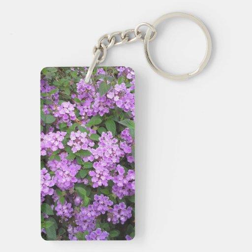 Little Purple Flowers Acrylic Key Chains