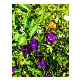 Little Purple Flowers Letterhead