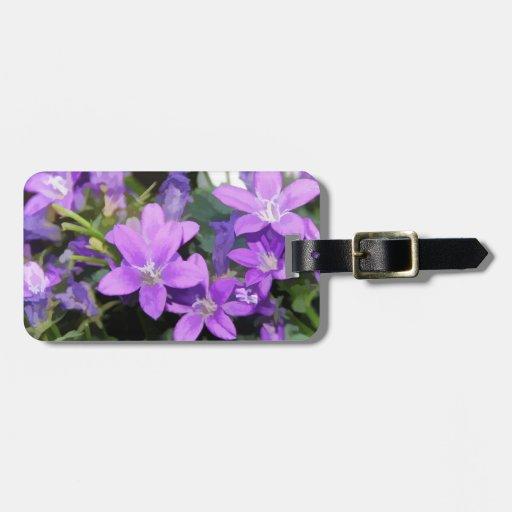 Little Purple Flowers Luggage Tags