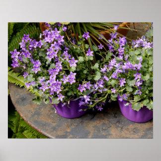Little purple flowers print