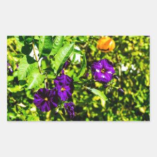 Little Purple Flowers Rectangular Sticker