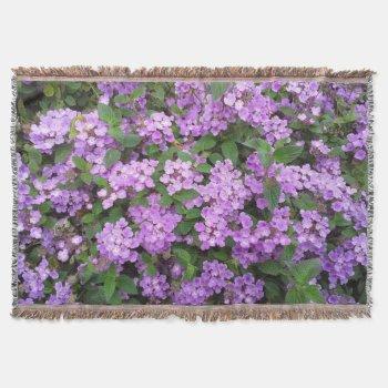 Little Purple Flowers Throw