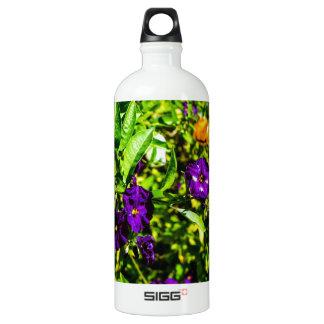 Little Purple Flowers Water Bottle