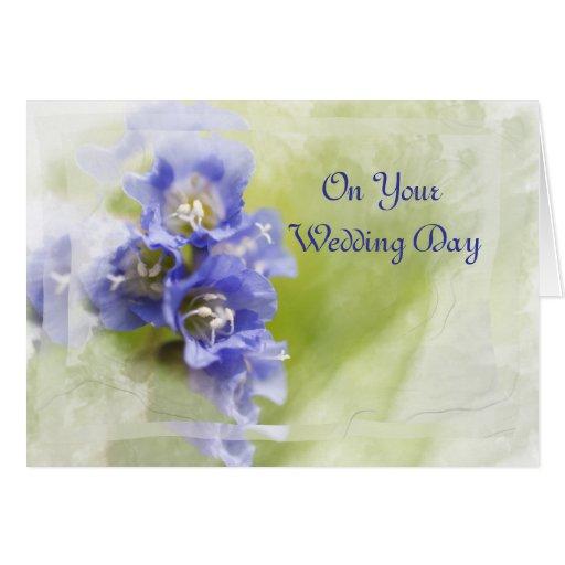 Little Purple Flowers Wedding Day Card
