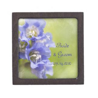 Little Purple Flowers Wedding Gift Box Premium Trinket Boxes