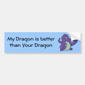 Little Purple Longtailed Dragon Bumper Sticker