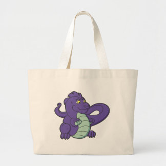 Little Purple Longtailed Dragon Large Tote Bag