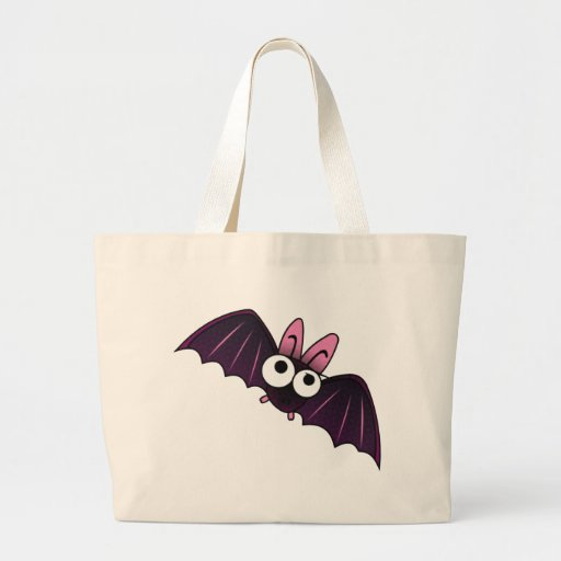 LITTLE PURPLE & PINK BIG-EYED BAT CANVAS BAG