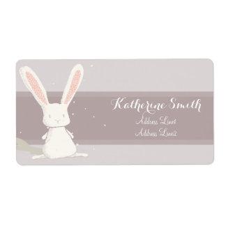Little rabbit Baby Shower Address Label III