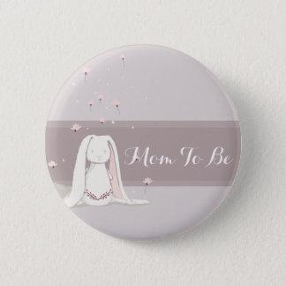 Little rabbit Baby Shower Button II