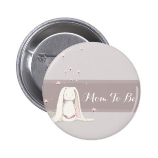 Little rabbit Baby Shower Button II