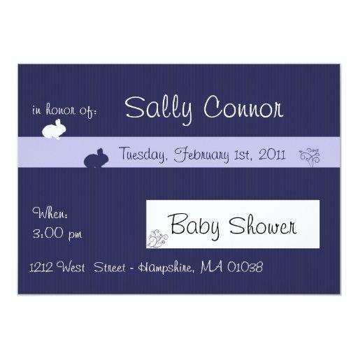 Little rabbit - Baby shower invitation