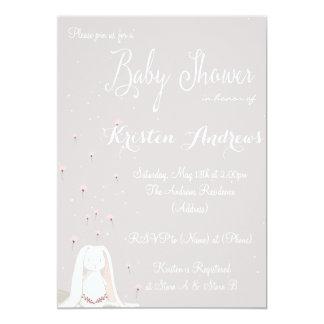 Little rabbit Baby Shower Invitation