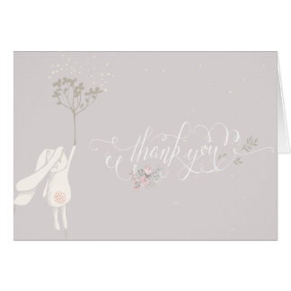 Little Rabbit Baby Shower Thank You Note Card