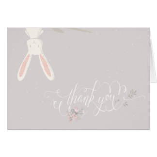 Little Rabbit Baby Shower Thank You Note II Card