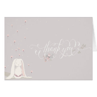 Little Rabbit Baby Shower Thank You Note III Card
