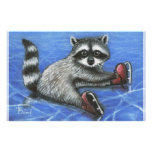 Little raccoon customized stationery