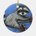 Little raccoon ornaments