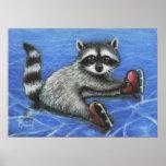 Little raccoon print