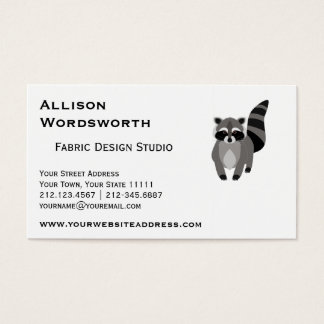 Cute canada business cards templates zazzle little raccoon rascal personalized business card reheart Choice Image