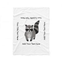 Little Raccoon Rascal Personalized Fleece Blanket