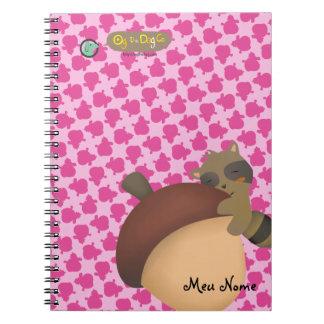 Little Racoon Pink Notebook