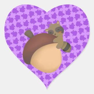 Little Racoon Purple Sticker