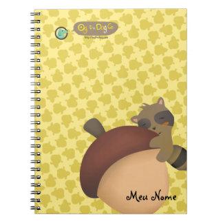 Little Racoon Yellow Notebook